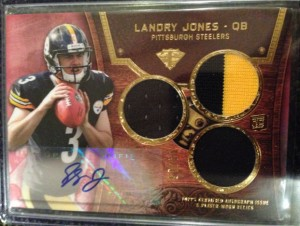 Landry Jones Triple Relic auto