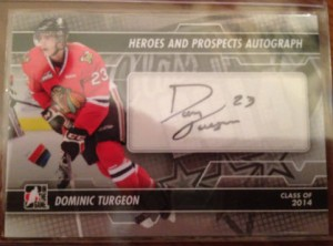 Heroes and Prospects 2014 Turgeon autograph