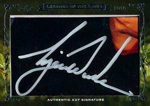 Tiger Woods autograph cut