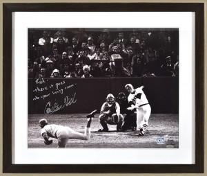 Carlton Fisk autographed photo 1975 home run