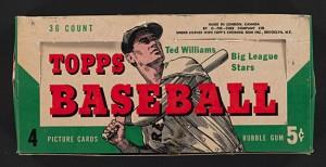 1954 Topps Baseball box