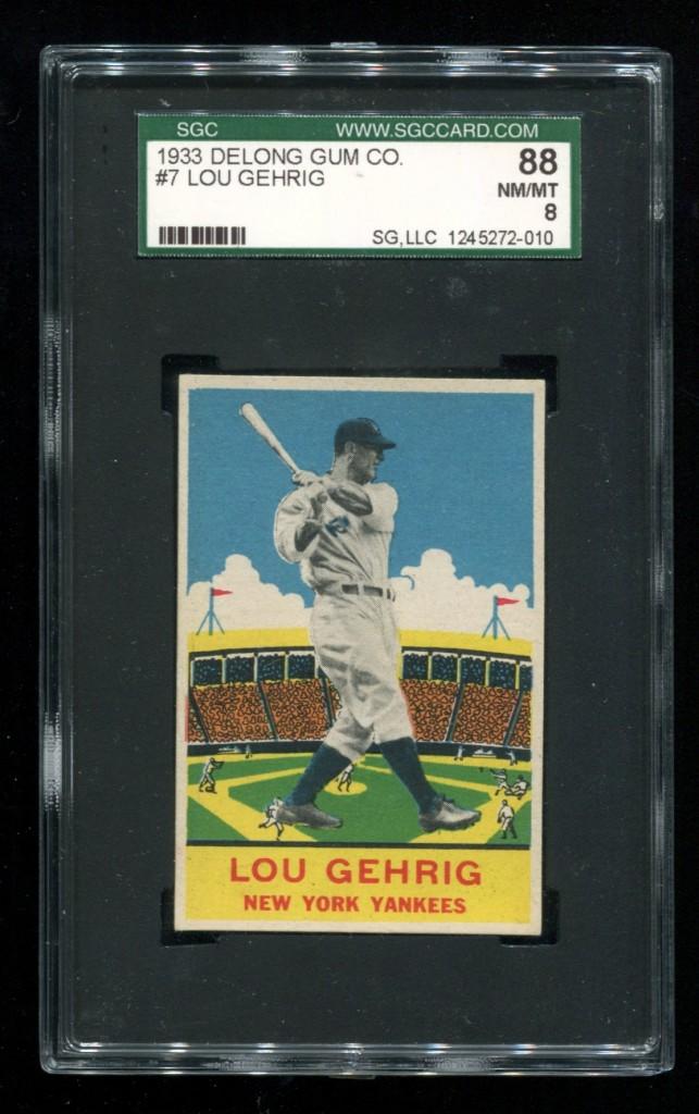 Lou Gehrig 1933 Delong