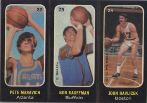 Pete Maravich 1971-72 trio sticker