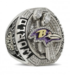 Damien Berry Super Bowl Ring Ravens XLVIII