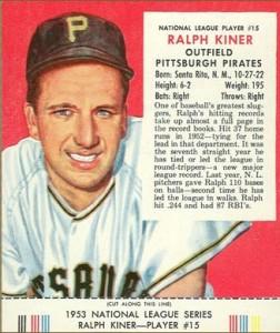 Ralph Kiner 1953 Red Man
