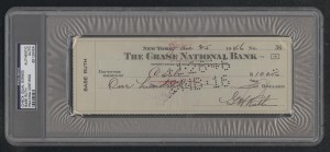 Double signed Babe Ruth check
