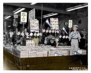 1953 store display baseball cards