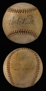 Ruth Gehrig signed baseball