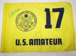 Autographed Tiger Woods Masters flag