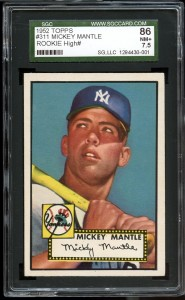Mickey Mantle PSA 8 1952 Topps
