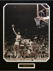 Abdul-Jabbar skyhook vs Celtics photo