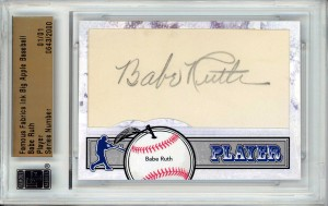Big Apple Baseball Babe Ruth autograph