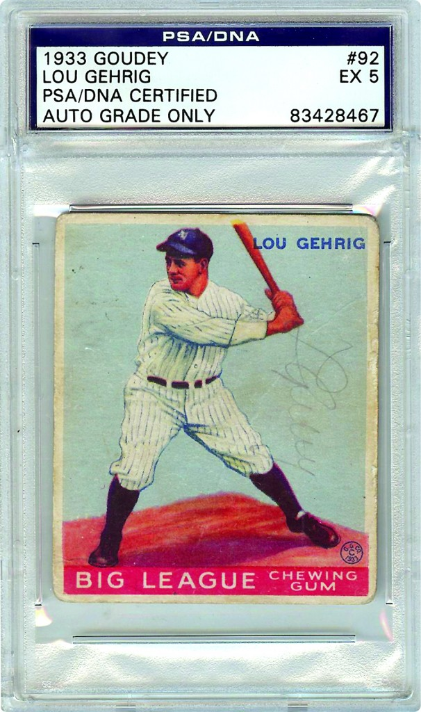 Autographed 1933 Goudey Lou Gehrig