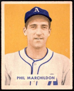 Phil Marchildon 1949 Bowman baseball