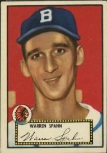 Warren Spahn 1952 Topps