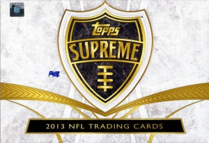 Topps 2013 Supreme Football box