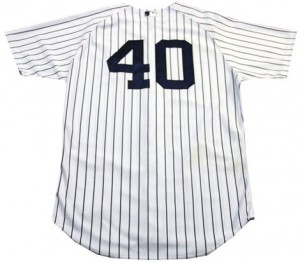 Yankees game worn jersey Matt Daley