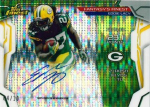 2014 Topps Finest Eddie Lacy auto