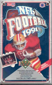 Upper Deck 1991 football box
