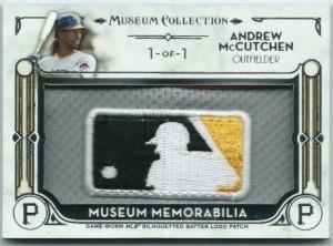 MLB logo patch Andrew McCutchen 2014 Topps Museum