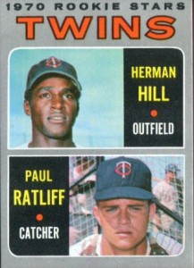 Herman Hill 1970 Topps rookies