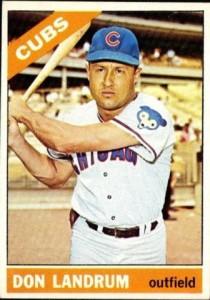 Don Landrum no button card 1966 topps