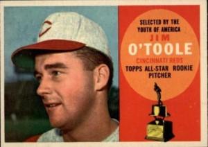 1960 Topps Jim O'Toole