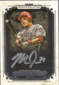 2014 Topps Museum Mike Trout black frame