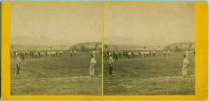 1860s stereoview of a baseball game