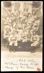 1904 New York Giants real photo postcard with the blank panel for writing at the bottom.  Only the address could be written on the back.