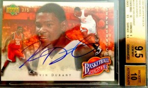 Kevin Durant 2007-08 Upper Deck Heroes auto