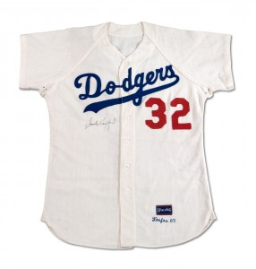 1965 Sandy Koufax Dodgers game worn jersey