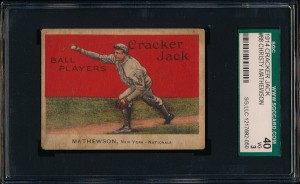 Christy Mathewson 1914 Cracker Jack card