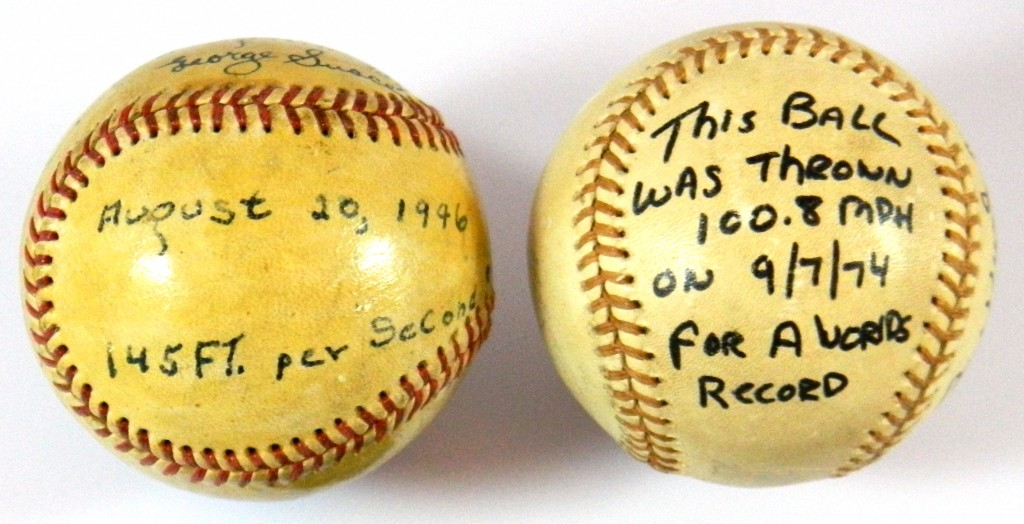 Bob Feller Nolan Ryan fastest pitched baseballs