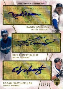 Seattle Mariners triple auto 2014 Topps Supreme Baseball