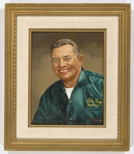 Oil painting of football Hall of Famer Vince Lombardi from Tommy McDonald Enterprises.  The former football star McDonald employs painters to make original paintings for his company.