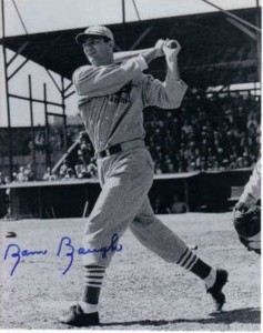 Autographed Sammy Baugh baseball photo
