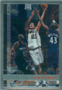Topps Chrome Tim Duncan rookie