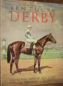 1935 Kentucky Derby program