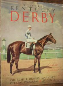 1935 Kentucky Derby program