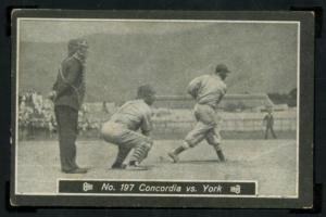 1931 Doble Aguila #197 Concordia vs York Martin Dihigo