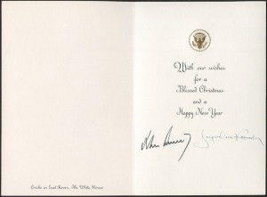 Christmas card Kennedy 1963