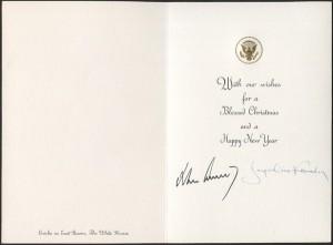 Christmas card Kennedy 1963