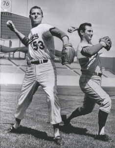 Don Drysdale and Sandy Koufax in 1966.