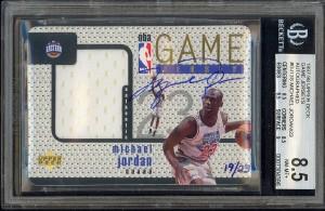 Michael Jordan autographed 1997-98 Upper Deck Game Jersey card