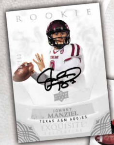 Johnny Manziel Upper Deck Exquisite football