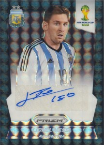 Lionel Messi signed 2014 Panini Prizm black 1/1