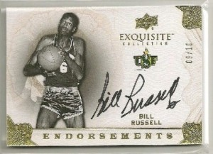 Upper Deck Exquisite Bill Russell autograph