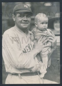 1920 Babe Ruth photo with baby