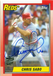 2014 Topps Archives Chris Sabo auto